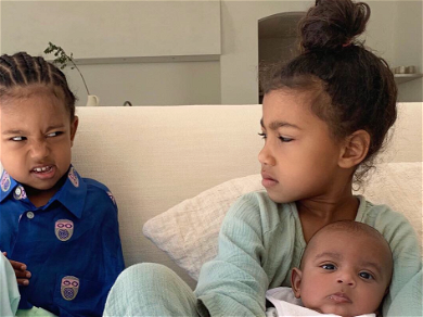 North West Serves Major Side-Eye Saint's Way in Hilarious Sibling Rivalry Pic