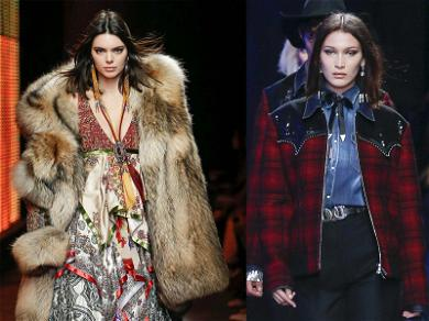 Kendall Jenner and Bella Hadid Go Western in Versace