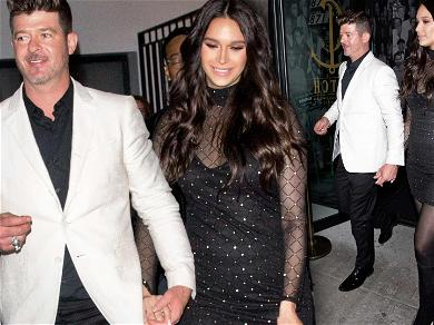 Robin Thicke and April Love Geary Leave Babies Behind to Celebrate Singer's 42nd Birthday