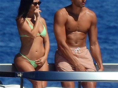 Kourtney Kardashian & Younes Bendjima Onboard Yacht in Italy