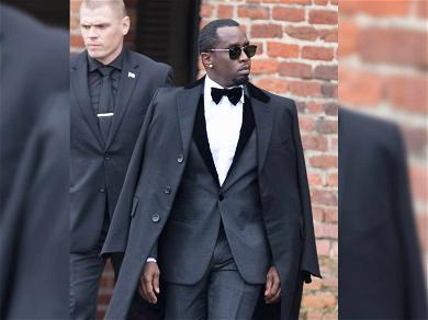Diddy Arrives for Kim Porter's Funeral Dressed to the Nines