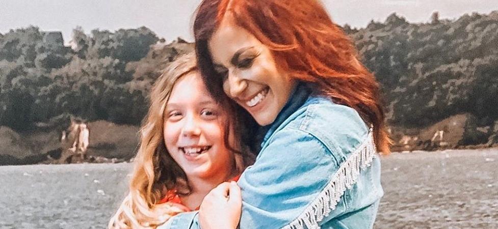 'Teen Mom' Chelsea Houska Kills It In Checkered Cowl, Leather Pants & Beanie