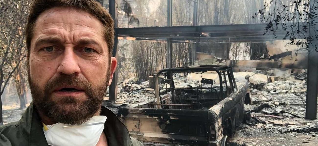 Gerard Butler Shares a Photo of His Burned Down Home