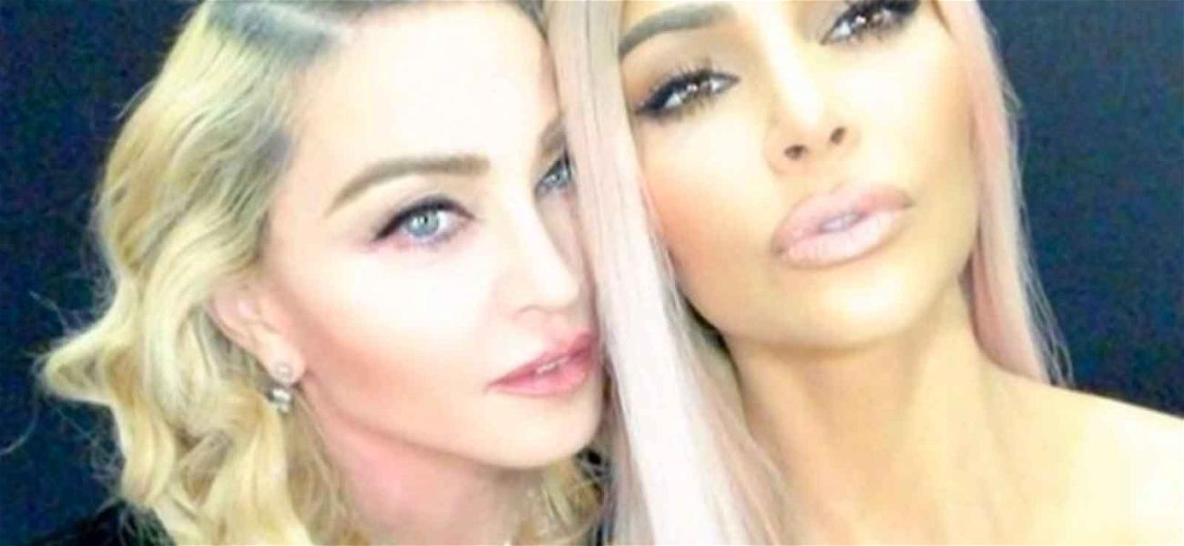 Madonna and Kim Kardashian Join Forces for Faces