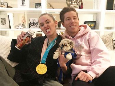 Shaun White and Miley Cyrus Party in the (Team) USA