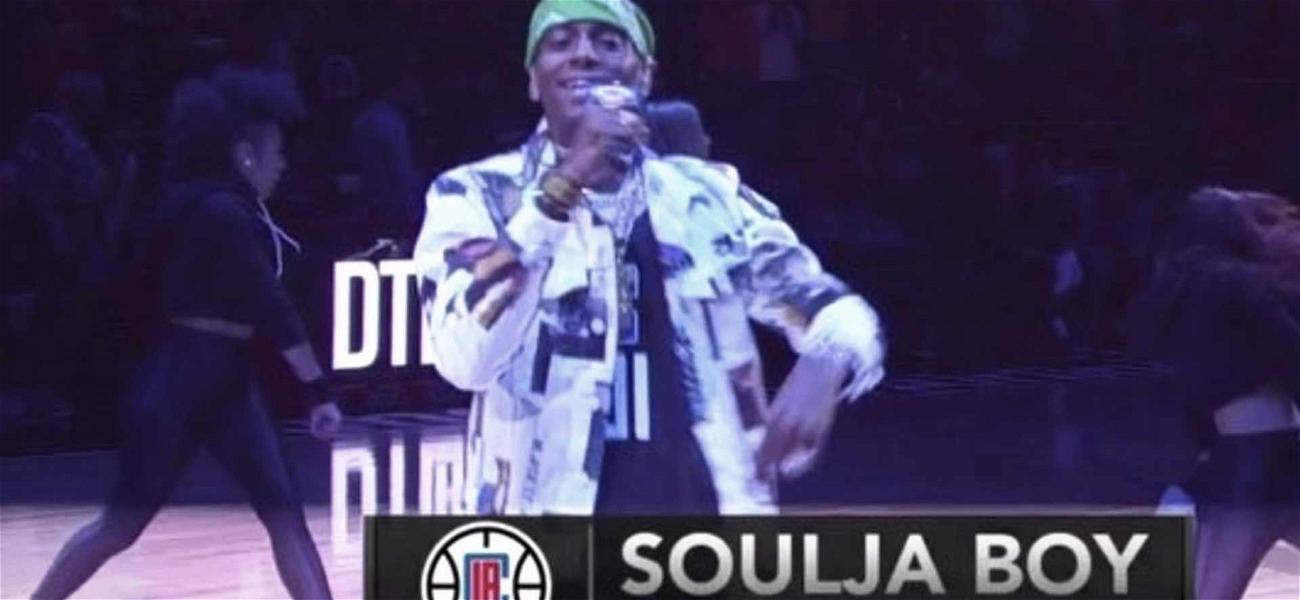 Soulja Boy Cranks Up L.A. Clippers Halftime Show After Arrest