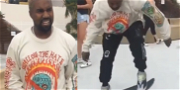 Kanye West Tries to Learn a Skateboarding Trick … It Does Not Go Well