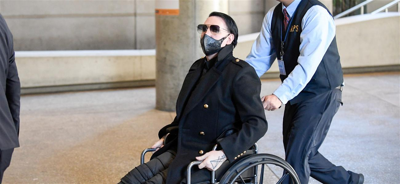 Marilyn Manson Goes Full 'Leatherface' at the Airport