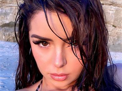 Demi Rose Flaunts Cute Face During Busty Bikini Selfie With Her Hot Friend