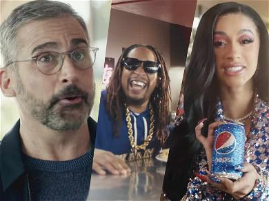Cardi B, Steve Carell, and Lil Jon Make Pepsi's Super Bowl Commercial 'More Than Ok'