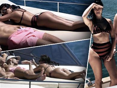 Kourtney Kardashian Gets Cheeky During European Vacation