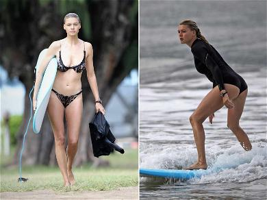 'Baywatch' Star Kelly Rohrbach Strips Down, Hangs Perfect Ten In Hawaii